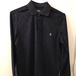 Men's IZOD Golf long sleeve polo Navy Blue